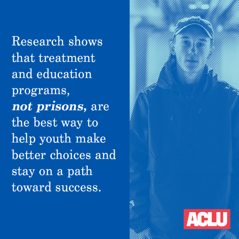 research shows treatment and education programs, not prisons, are the best way to help youth make better choices