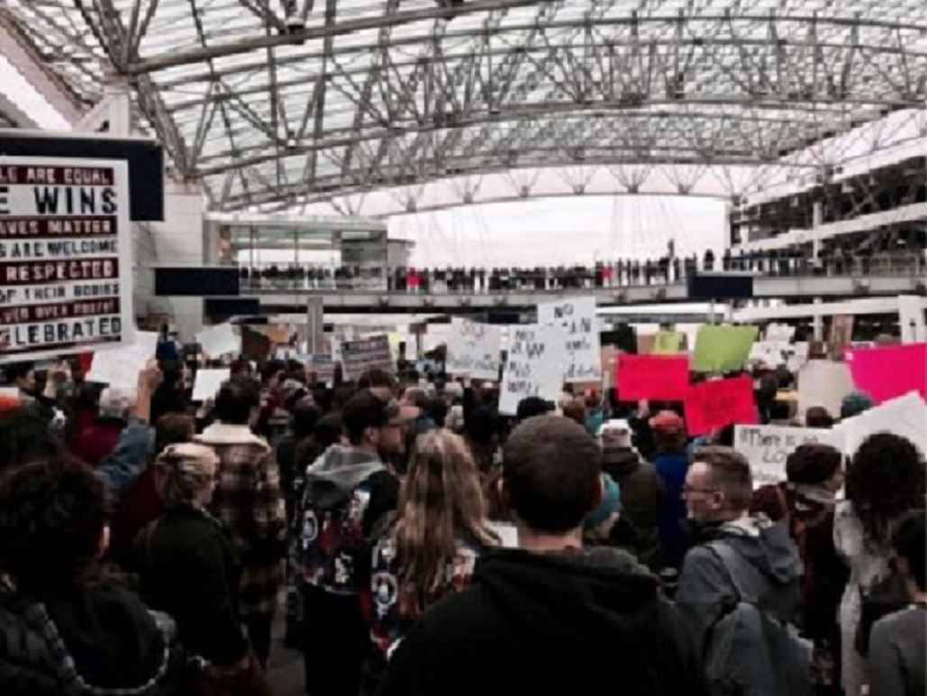 Portland International Airport Protestors